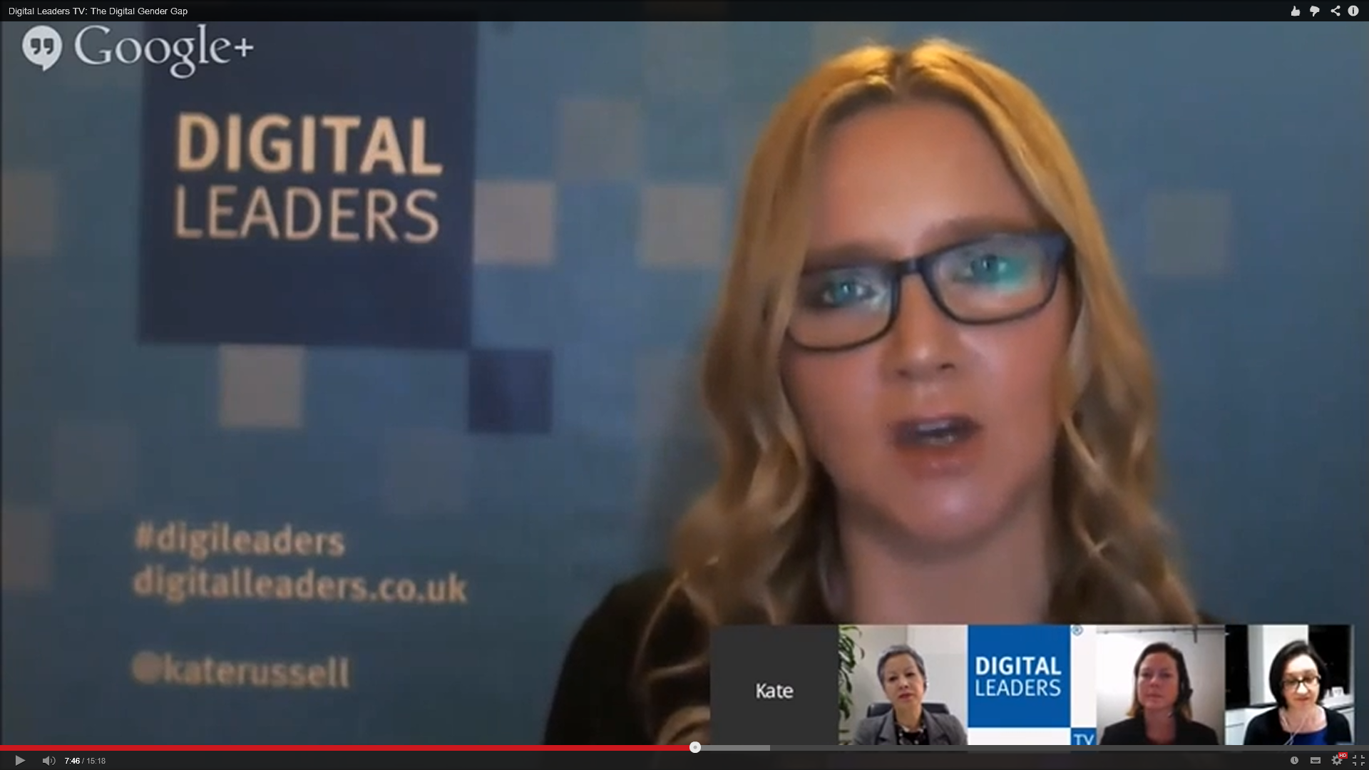 DLTV: This month's Digileaders TV tackled the digital gender gap