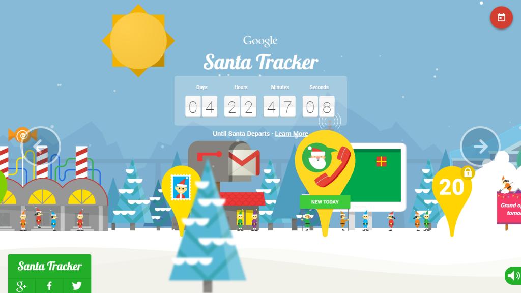 google tracks santa