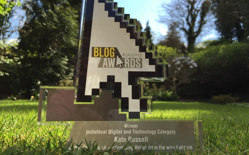 NEWS: KateRussell.co.uk wins at #UKBlogAwards