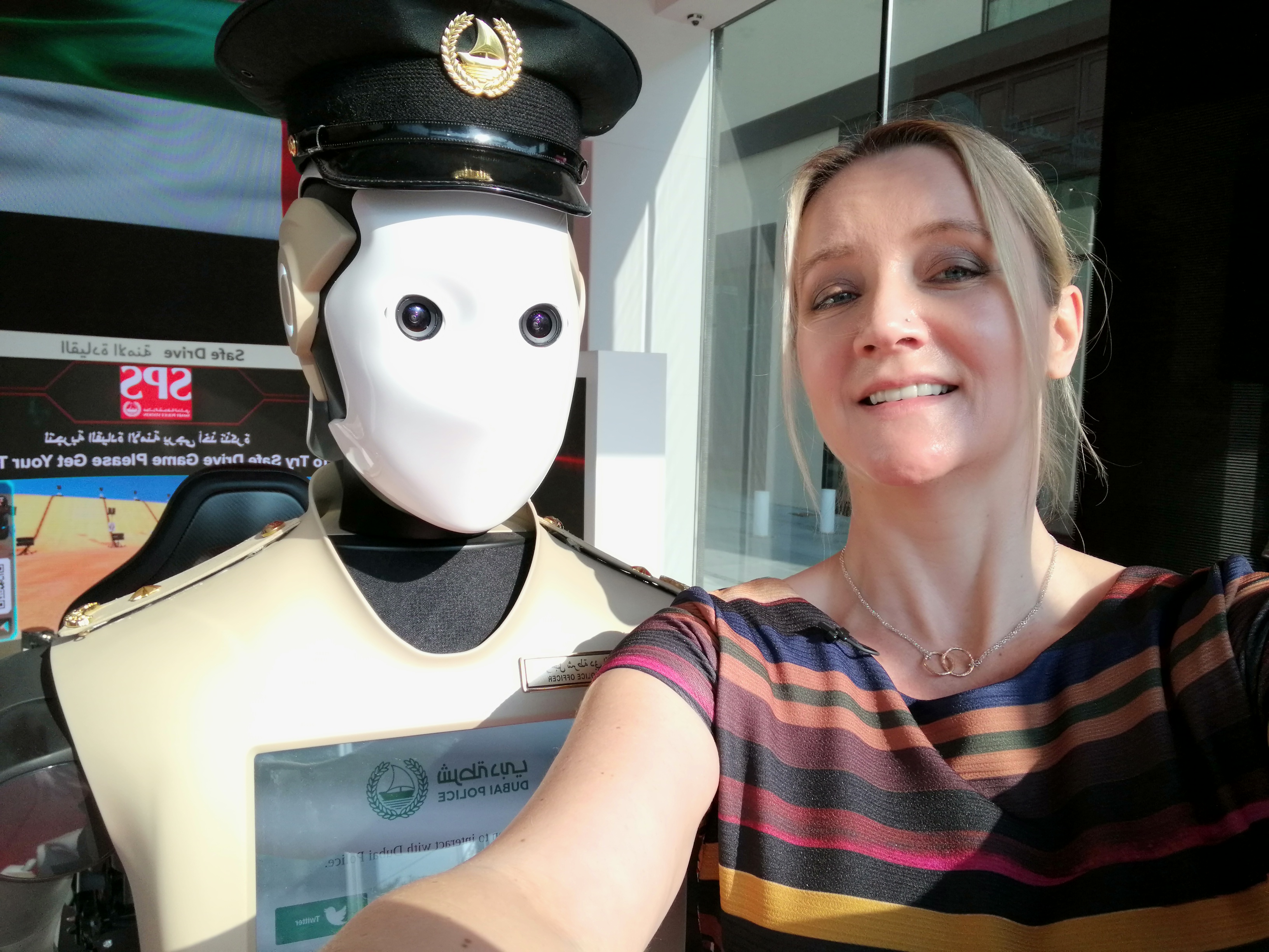 The real life Robocop patrolling Dubai